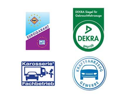 Wir besitzen eine Zertifizierung von Eurogarant und sind eine DEKRA geprüfter Karosserie-Fachbetrieb.