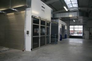 Einer der modernsten Lackierereien wurde bei dem Neubau des Autohof Kosmalla realisiert.
